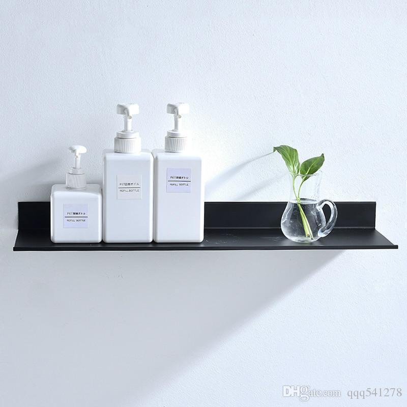 2021 Bathroom Accessories 30 60cm Modern Matt Black Bathroom Shelves Kitchen Wall Shelf Shower Bath Storage Rack From Qqq541278 13 37 Dhgate Com