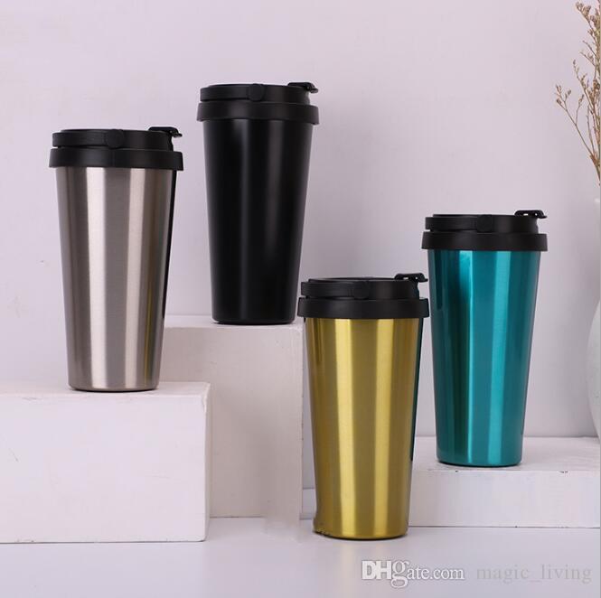 500ML Vakuum Tumbler Kaffeetasse Edelstahl Doppelwand-Vakuum-isolierte Bierbecher Trinkgefäße Vakuum-Tassen 222