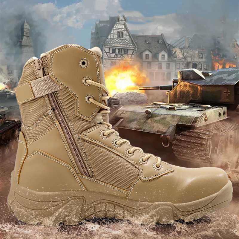 Scarpe 2020 Estate combattimento Boot Uomini Arrampicata Formazione leggero impermeabile Tactical Boots Outdoor Trekking traspirante Army Mesh