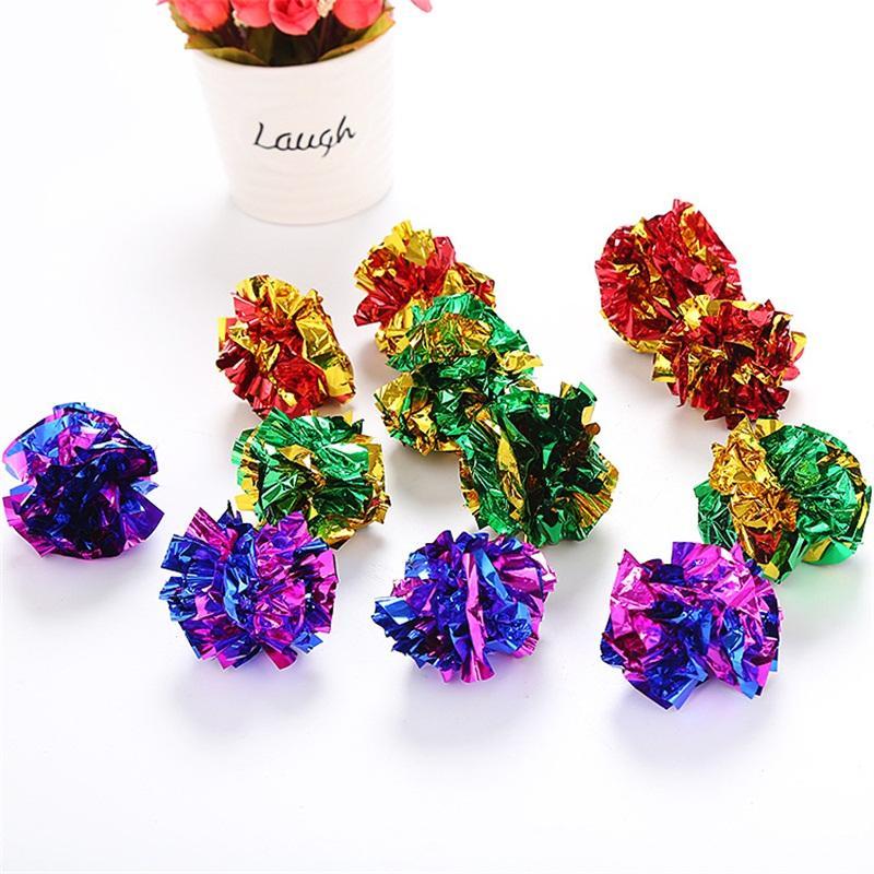 12 шт. За пакеты кольцо бумажные шарики домашние животные цвет бумаги мяч популярные грызущие игрушки с разными цветами 0 55sn J1