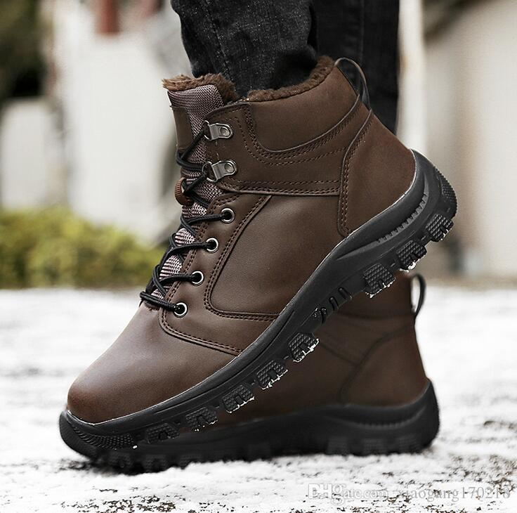 Men/'s high-top fashion Martin boots cotton boots outdoor Lace Up Combat Shoes