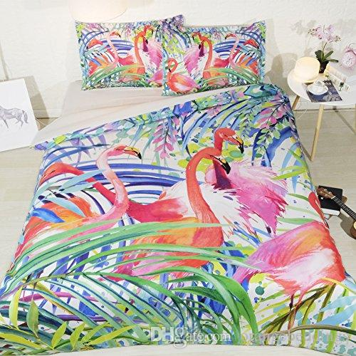 Flamingo Bedding Twin Bed In A Bag Banana Leaf Duvet Cover Queen Forest Green Bedspreads Queen Size Pink Flamingo Full Size Bed Spread