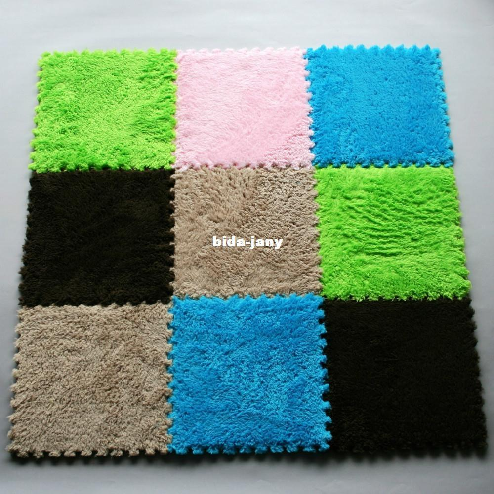 Nuovo 9pc Pile Bodenbelag schiuma EVA tappetini puzzle da pavimento stuoia GYM per bambini Bambini
