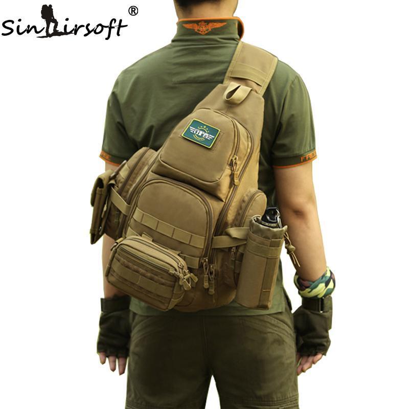 SINAIRSOFT 14iches Laptop Molle Backpack Men Nylon Sports Bag Shoulder Sling Waterproof Men's Travel Tactical Backpack
