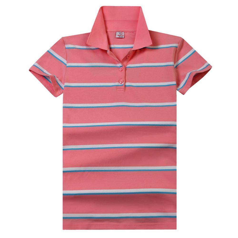 Mode Femmes Chemises Polos 2019 Mujer coton Chemises T-shirt rayé pour femmes
