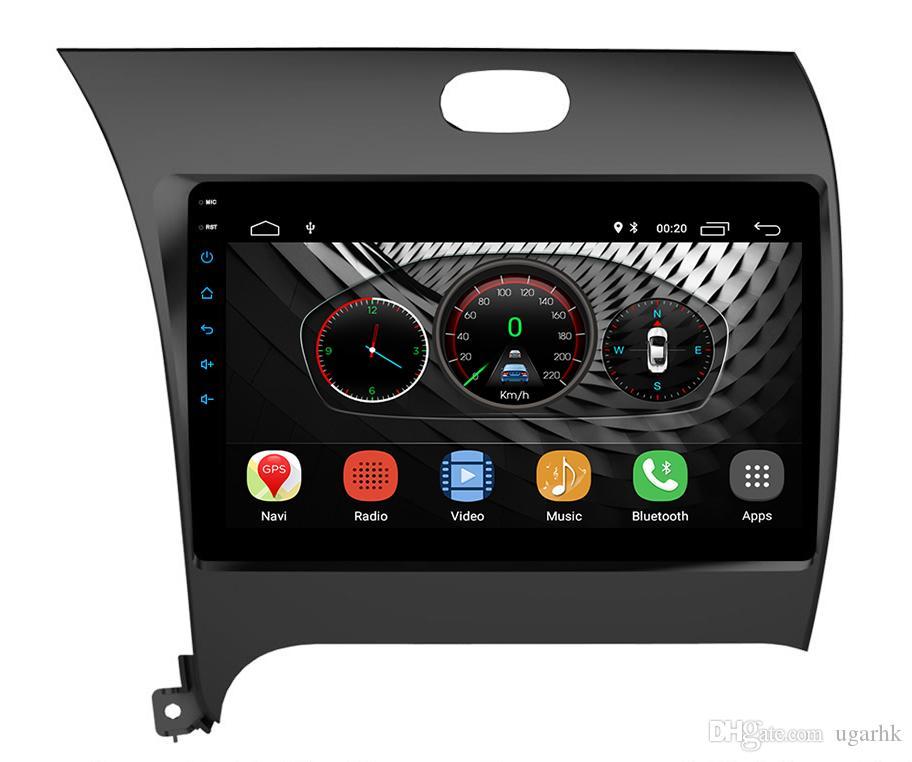 9 inç Android 8.1 KIA K3 Cerato Forte 2013-16 2 GB RAM Dört Çekirdekli 1024 * 600 Araba GPS Navigasyon Multimedya Oynatıcı Radyo Wifi