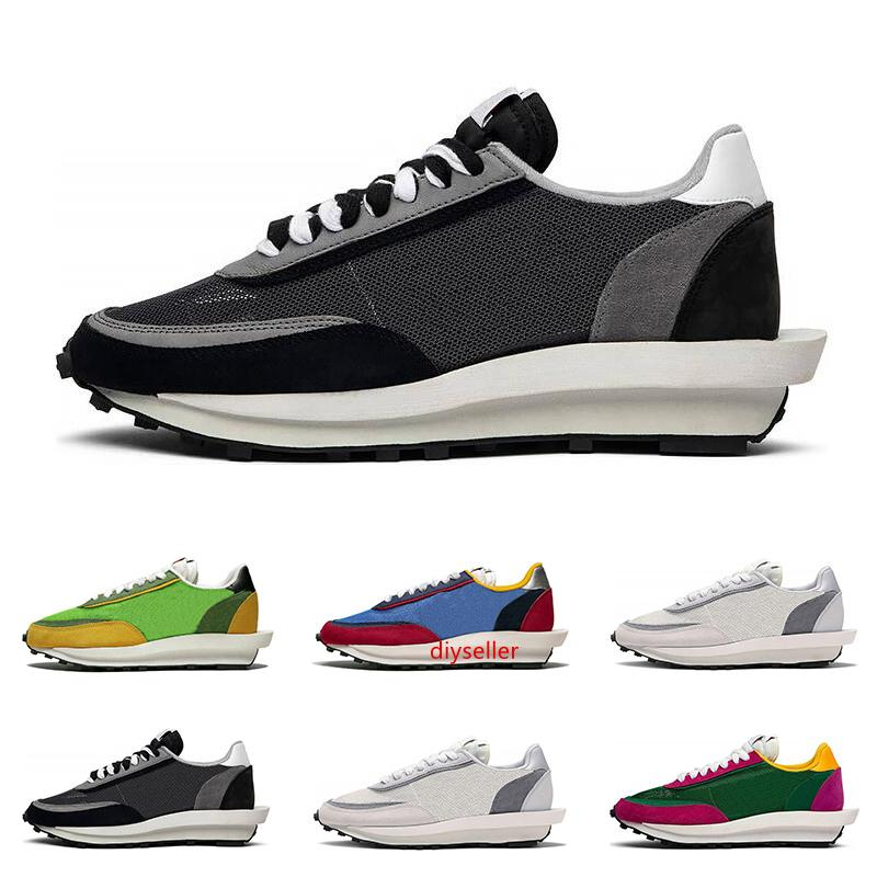 2019 Sacai LDV вафельные кроссовки для мужчин женщин черный белый серый Сосновый зеленый Gusto Varsity синий мужские кроссовки спортивные кроссовки