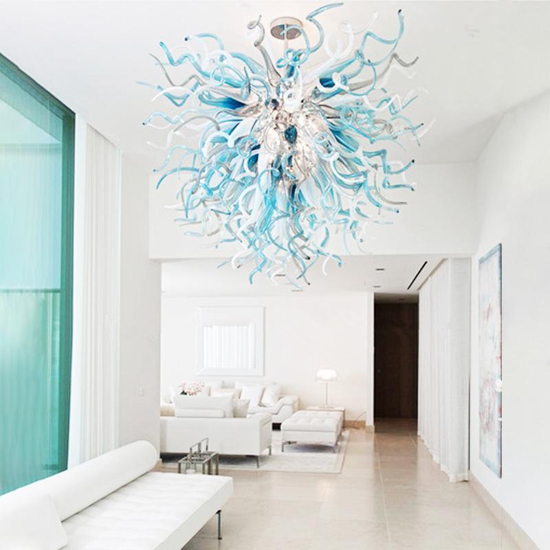 Art lampadario luce Splendida moderna condotto da plafone in camera spirale Stained Glass Decor Soggiorno grande lampadario colore può personalizzato