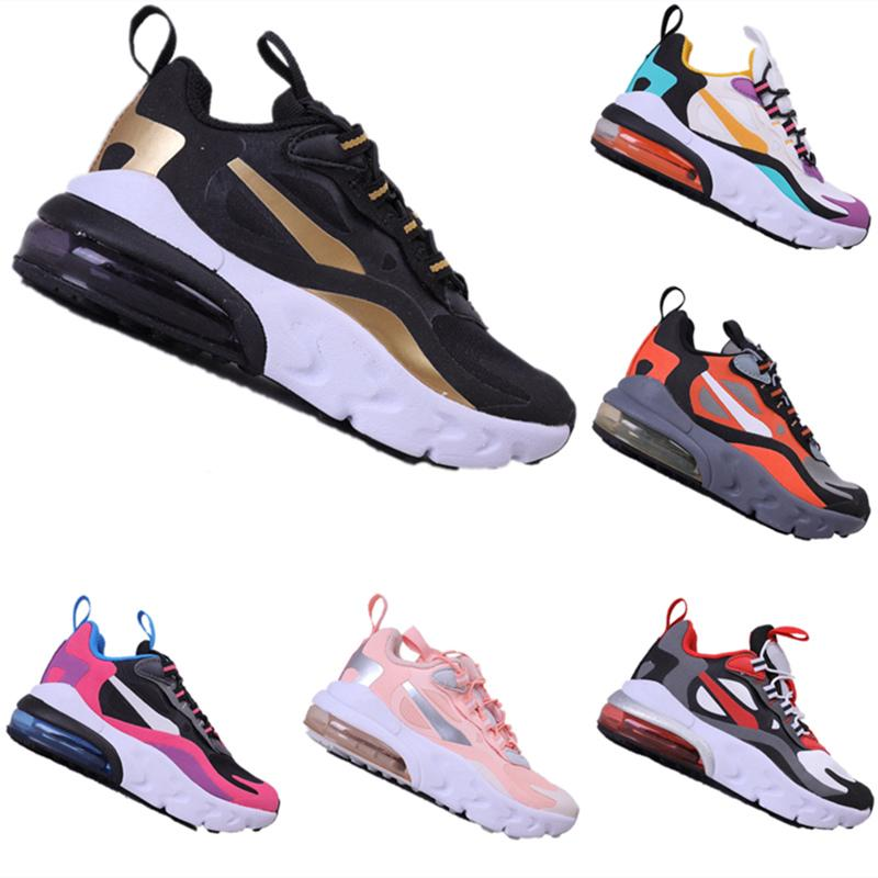 Com Box 2020 New Kids Reagir Fly Arame respirável Running Shoes Meninos e amortecedor menina Zoom Air Causal Sneakers Size24-35