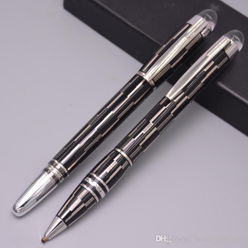 فاخر اسود المعادن MB-SW تصميم الأزياء رول الكرة من ركلة جزاء / حبر جاف / نافورة القلم ميستري الأسود MB أقلام الساخن بيع رولربال أقلام لكتابة