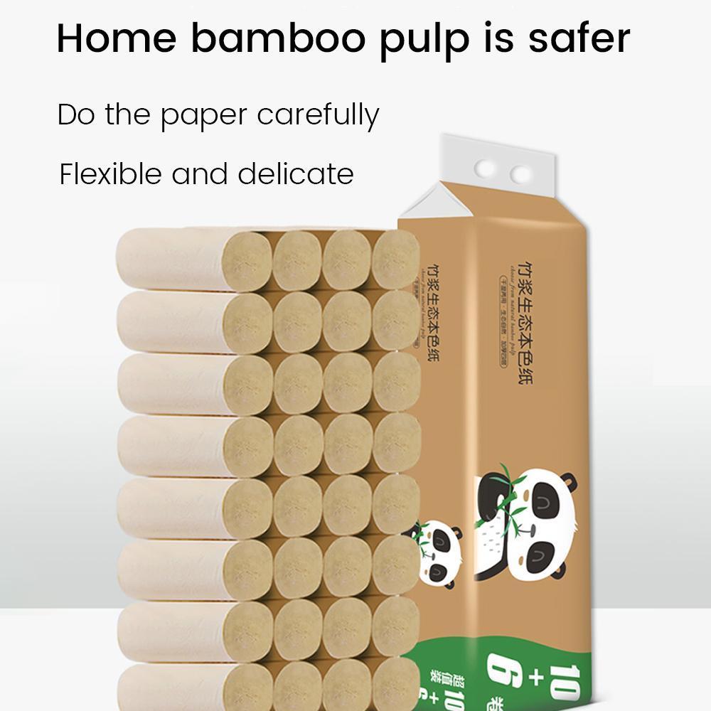 16 Rolls / pack rotolo di carta igienica bagno di casa morbido rotolo di carta igienica del legno Pulp carta igienica tessuto forte assorbimento di acqua
