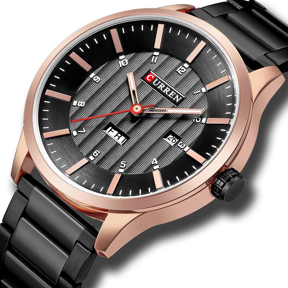 CURREN модные часы спортивные часы Мужские водонепроницаемые наручные часы из нержавеющей стали повседневный мужской календарь часы Relogio Masculino