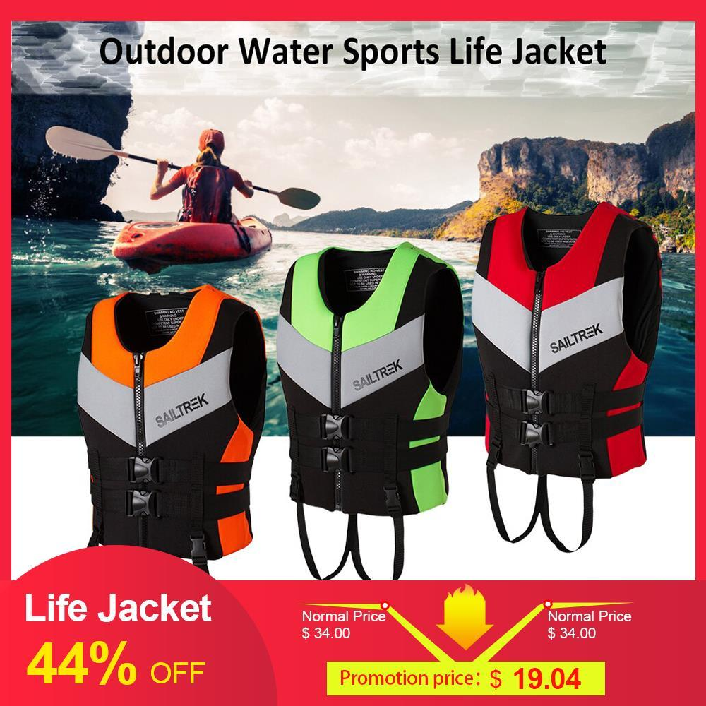porte intrattenimento neoprene Sport acquatici Giacca Pesca Kayak Canottaggio Nuoto sicurezza Life Vest di acqua di sport di sopravvivenza Giacca di salvataggio V ...