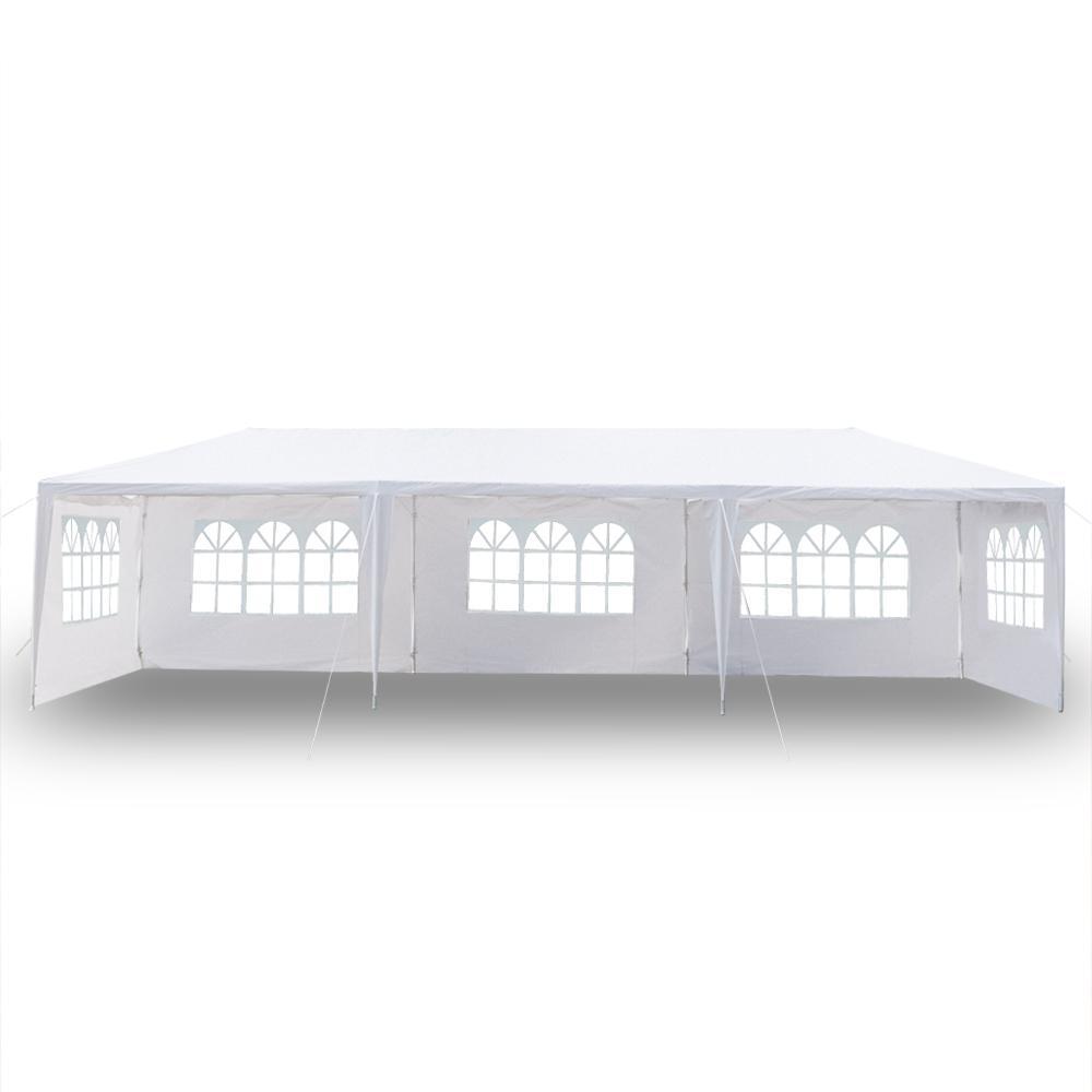 10x30Ft 8 lati 2 Porte all'aperto baldacchino della tenda del partito di nozze Bianco 3x9m Gazebo Padiglione con spirale Tubi Hot Item