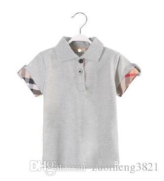 Meninos Camisetas de Verão Crianças Designer de Moda Algodão Moda Infantil Verão Curto Tops T Para Meninos e Meninas camiseta