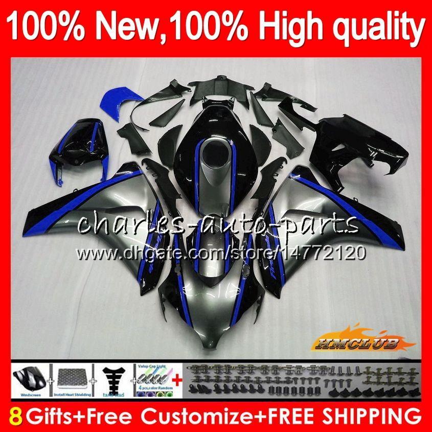 Body For HONDA CBR 1000RR CBR 1000 1000CC RR CC blue silvery 79HC.62 CBR1000 RR CBR1000RR 08 09 10 11 2008 2009 2010 2011 Fairings OEM Kit