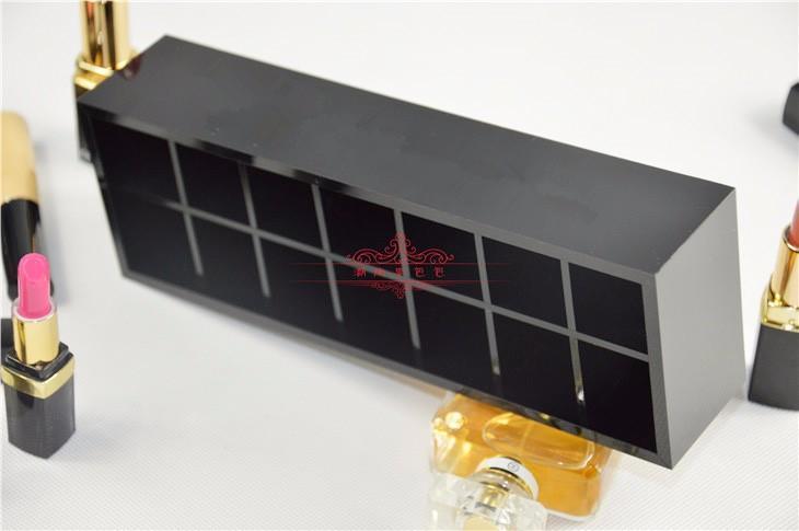 marca de moda de aseo acrílico caja de almacenamiento 14 de la rejilla clásica de alto grado / accesorios de almacenamiento de cosméticos con el embalaje de regalo