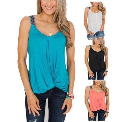 Womens Designer Top Women Brand Solid Color Tops Ladys Casual Clothing New Fashion Trend Tank Top 2020 New Style Hot Selling 4 Colors