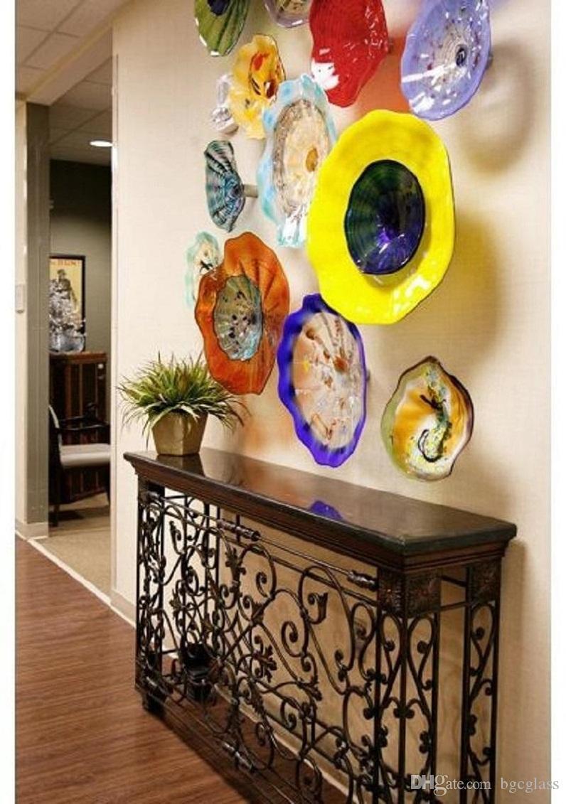 Выдувные стеклянные пластины выдувное стекло Декоративные настенные лампы Italian Design выдувное стекло Плиты стеновые декоративные