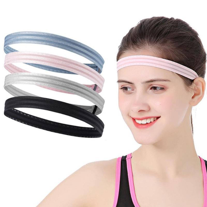 Professionnel élastique Yoga Sweatband sport Bandeau silicone antidérapage Femmes Hommes cheveux Band Fitness pour Volley-ball Tennis course