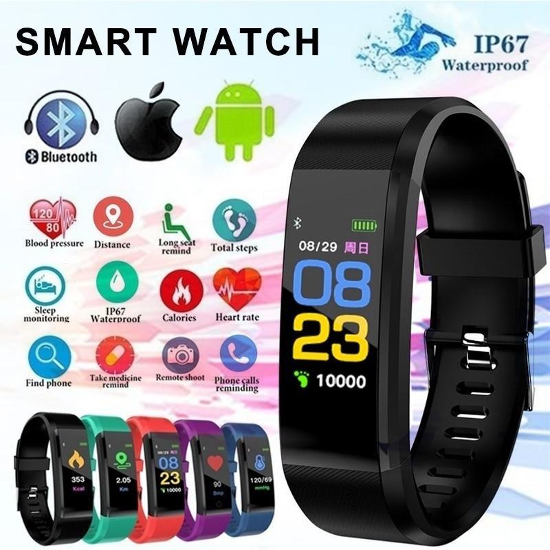 IP67 водонепроницаемый браслет сердечного ритма артериального давления смарт-диапазона Фитнес Tracker Смарт Band Bluetooth браслет для IOS Android