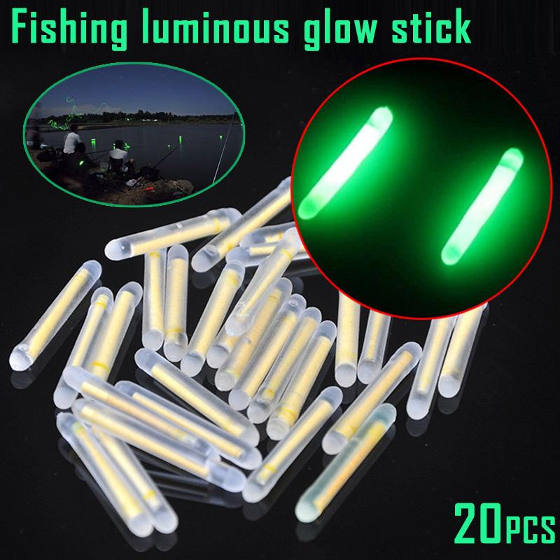 Cheap Lures Newly 20pcs Fluorescent Lightstick Floating Luminous Stick for Night Fishing 19ing Fishing Lures