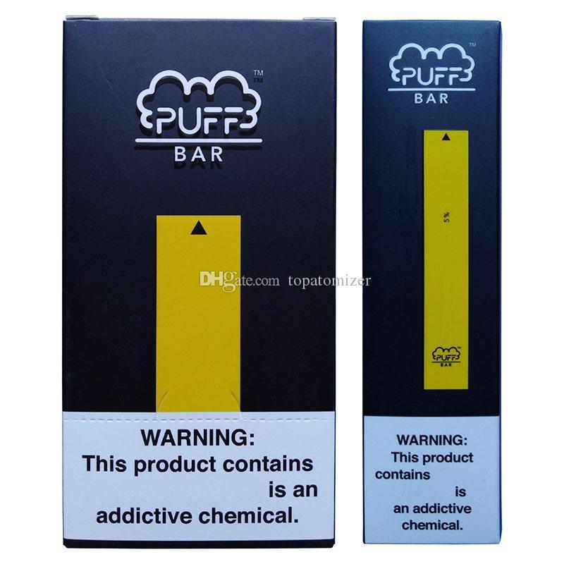 Puff Bar Starter Kit jetable Vape Pen 280mAh Appareil de batterie vide cigarettes Pod E avec le code de sécurité Stylos en stock Vaporizer DHL