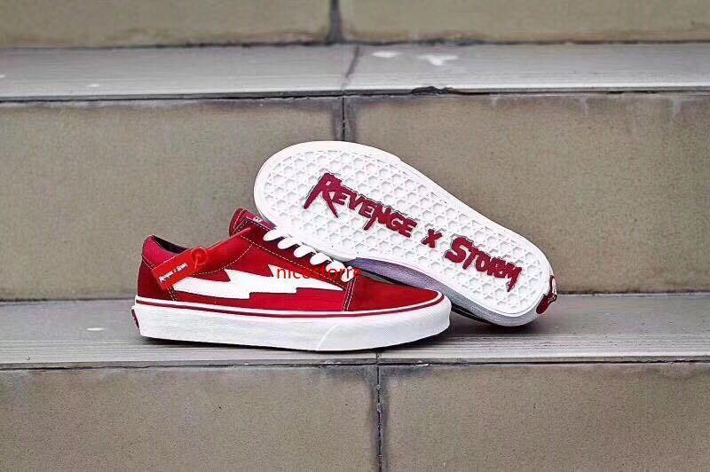 REVENGE chaud x STORM Hommes Chaussures de toile de la planche à roulettes Chaussures Old Skool Kanye Mode bas de chaussures femmes occasionnels eur 36-44