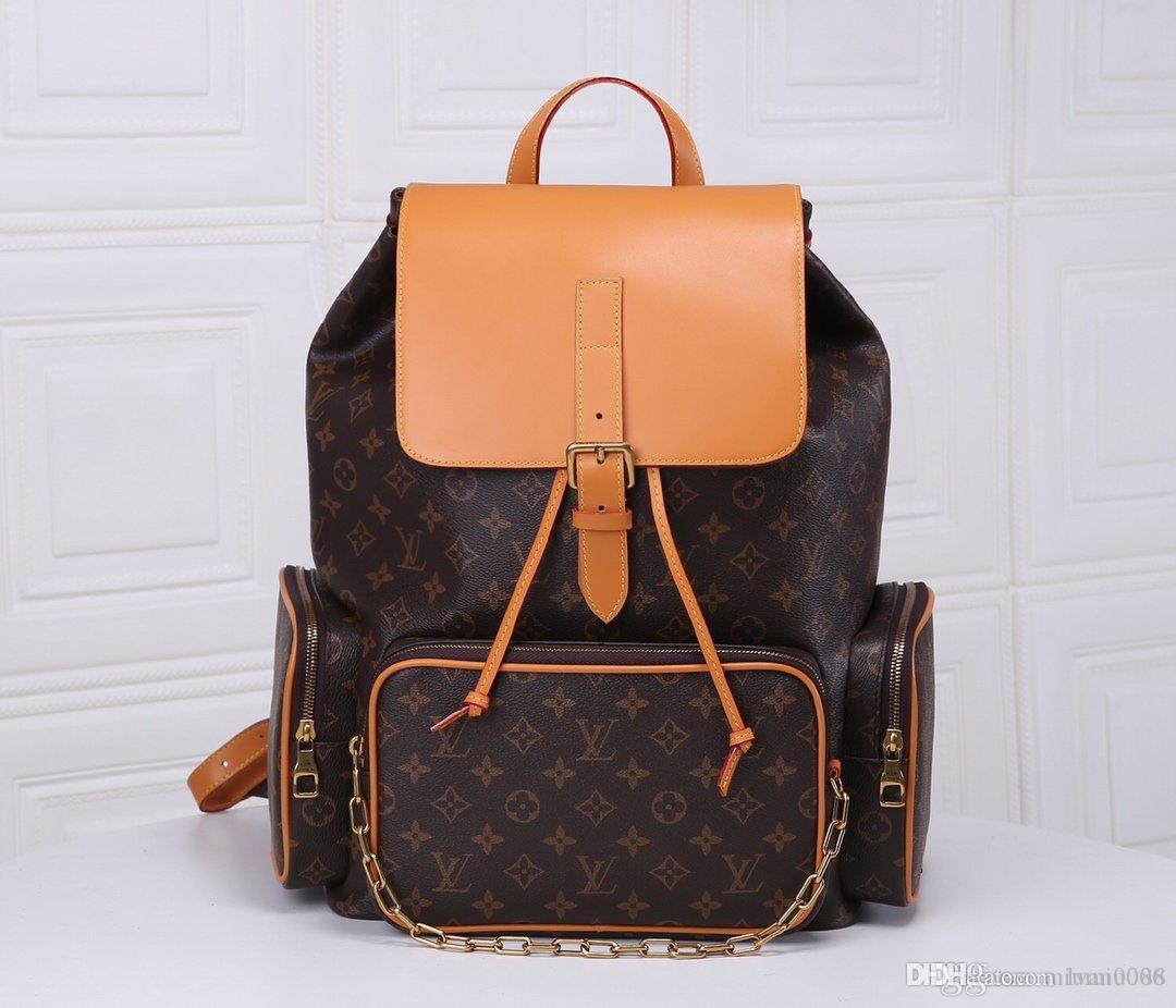 bolso del estudiante mochila escuela colección mochila mochilas de alta calidad de doble hombro mochila mochila M44658 Tamaño: 60x72x19cm