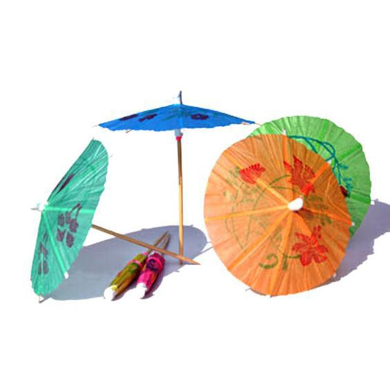 50pcs / pack parapluie Médiator boisson Parasol Pointus Art Party Party Cupcake Fruit Toothpick Décoration