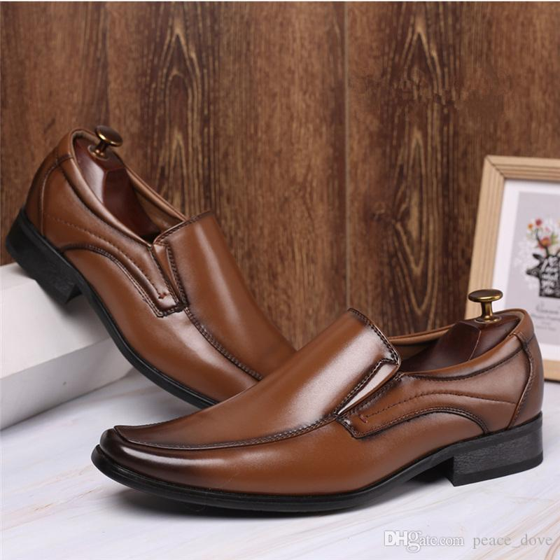 loafers business shoes men oxford leather pointed brown dress wedding shoes for men 2019 gents shoes fashion zapatos elegantes hombre sapato