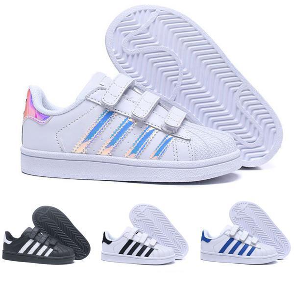 Top Quality Big Crianças Superstar sapatos Ouro Branco Bebês Crianças Superstars Tênis Originals Super Star meninos meninas Esportes Casual Shoes
