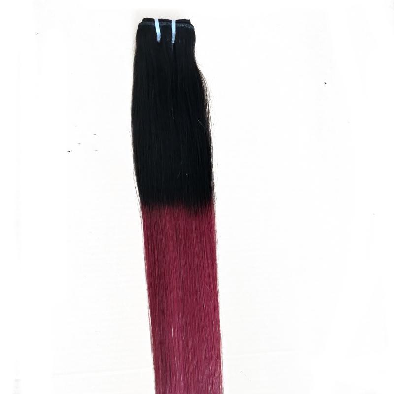ELIBESS BRAND - Haarbündel Gerade Welle Ombre T1B / Lila Jungfrau-Menschenhaar Stück Rohboden russischen Haar-einschlag 300g Lot,
