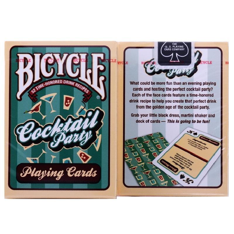 Игральные карты велосипеды Cocktail Party Drink Recipes Poker Размер USPCC Limited Edition палубной Волшебная карточные игры фокусы Принадлежит
