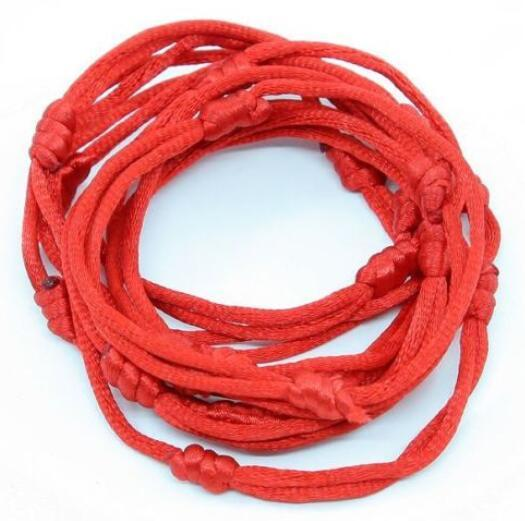 Kabbalah Good Lucky Bracelet Red Rope Bangle Bead Nylon Cords Craft Weave String Line Classic Handmade Jewelry Friendship Gift Souvenir
