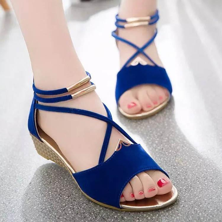 Fairy2019 Bottom Flat Sandals Woman Foot Ring Fasciola Group Combine Fish Mouth Rome Shoe With Down Noodles Women's Shoes