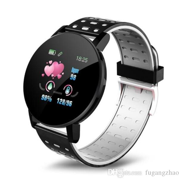 Les dernières 119 PLUS intelligente Bandeaux Pression artérielle moniteur de fréquence cardiaque Fitness Tracker intelligent Bracelet caméra étanche à distance intelligente Montre