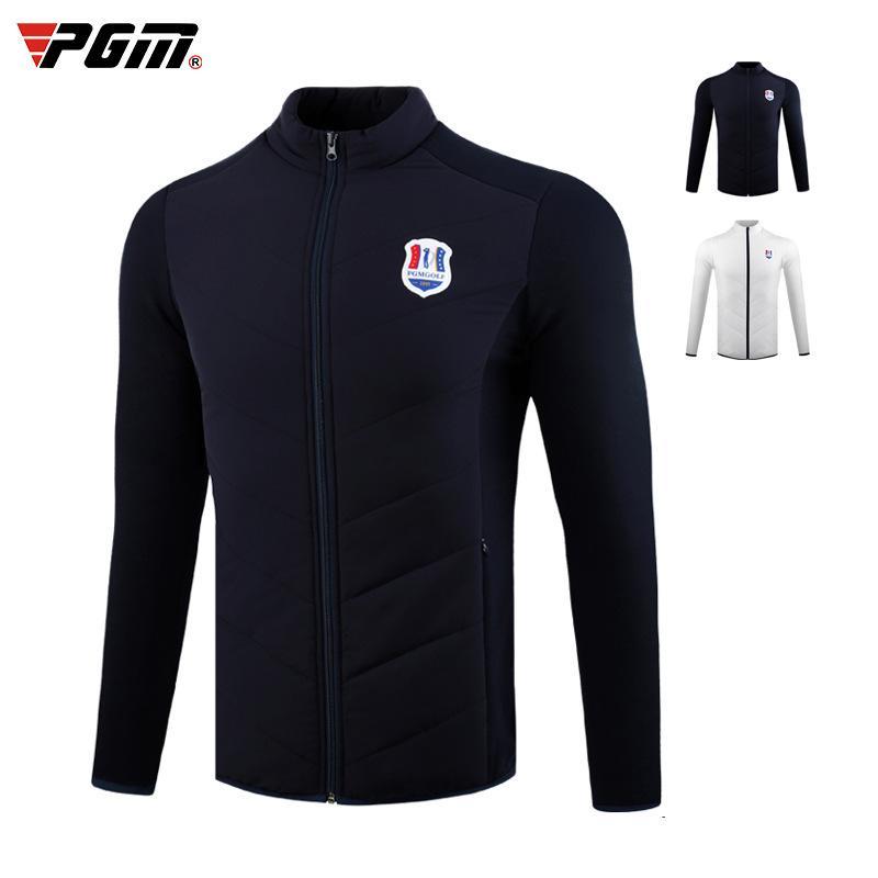 PGM Hommes Vêtements de golf Automne Hiver Thicken Veste polaire Manteau de maintien au chaud extérieur Training Jersey Golf D0832