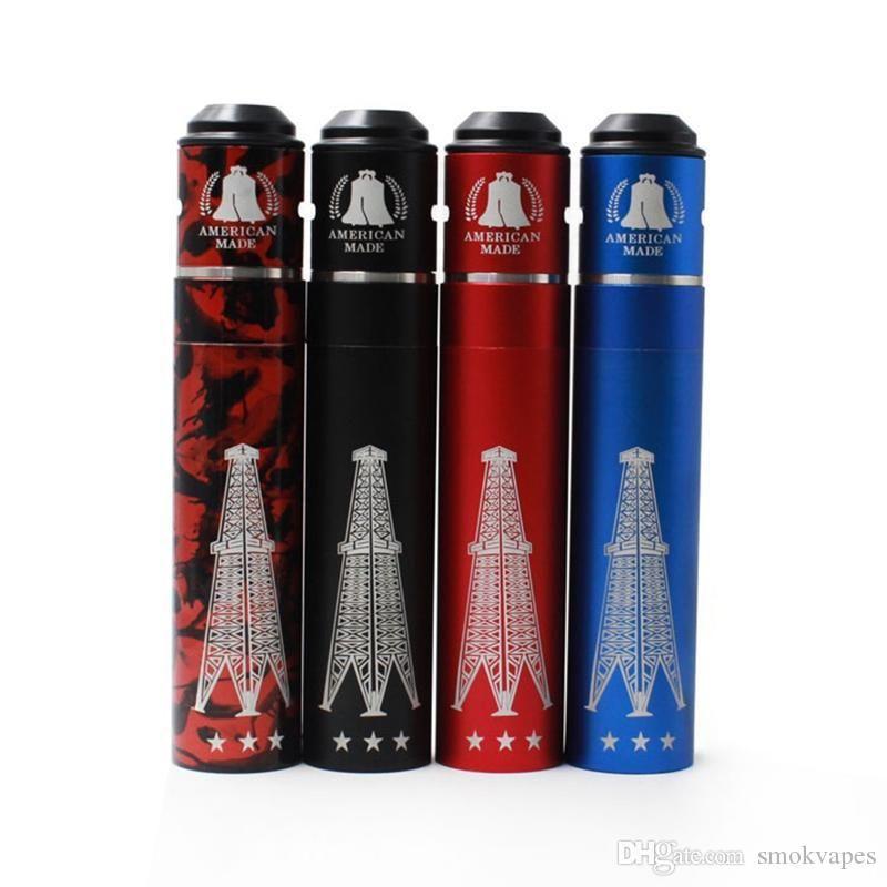 Vaporizador Rig V3 Mod Rig Mecânica kit v3 Mod Red Copper RIGV3 Com kit RDA terk caber 18.650 RDA bateria atomizadores de alta qualidade DHL livre