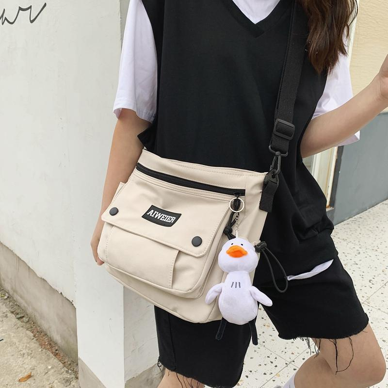Las mujeres ocasionales bolsas de mensajero impermeable de nylon de hombro del bolso femenino diario señoras de bolso de Crossbody Bolsa Bolsa Sac principal