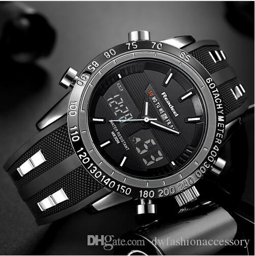 Luxury Watches Men Sports Watches Waterproof LED Digital Quartz Men Military Wrist Watch Clock Male Relogio Masculino 2018