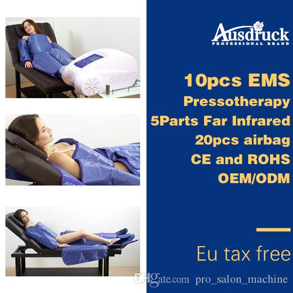 Eu tax free EMS pad Far Infrared Pressotherapy lymph drainage Slimming machine pressure Wrap weight loss body shaping