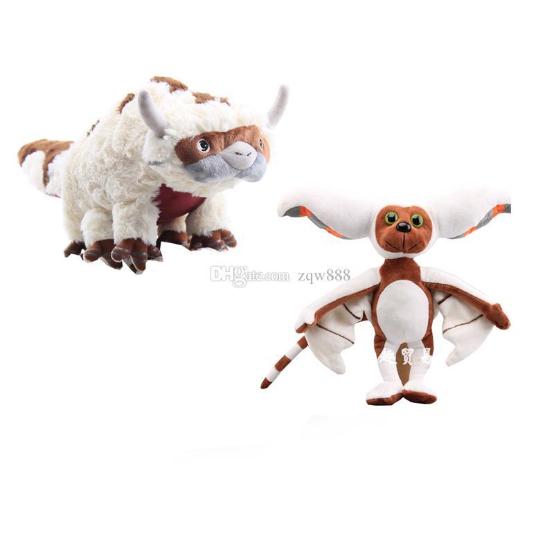 Avatar Letzter Airbender 45cm Appa 28cm Momo Plüsch Juguetes Kuh Gefüllte Spielzeug für Geschenke 2pcs / lot