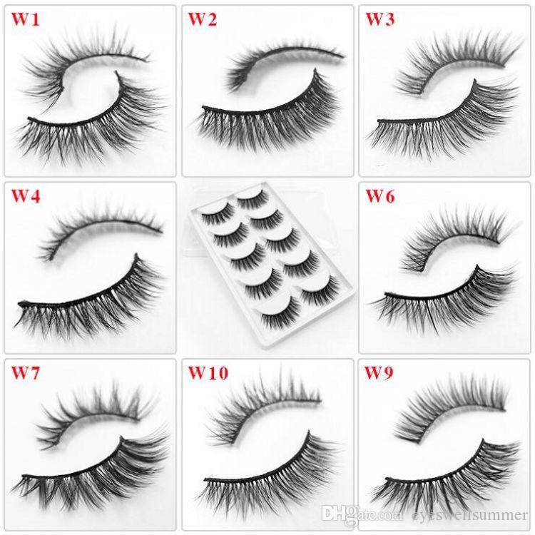 5 Pairs False Eyelashes Natural Soft Eye Lashes Makeup Handmade Thick Fake False Eyelashes Make Up Beauty Tools 29 Styles