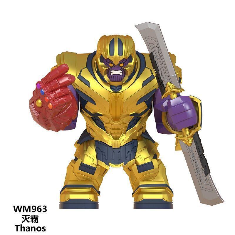 New WM963 The Avengers Big Building Block Thanos Double-edged Sword Infinite Gloves Marvel Series Iron Man Children Toys zdl0618.
