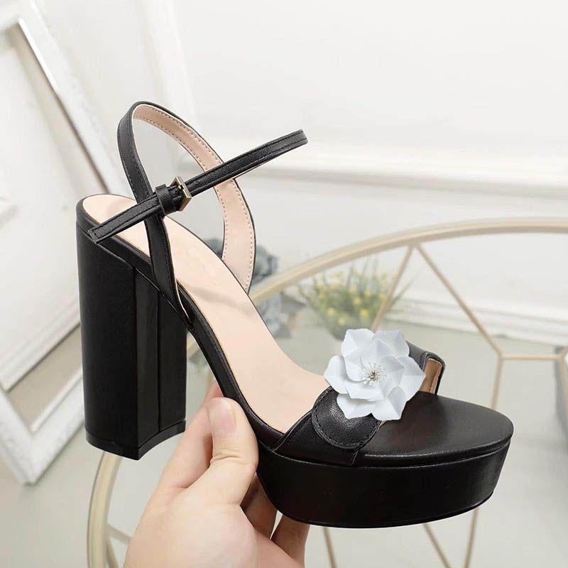 النساء مصمم الصنادل الفاخرة منصة صندل من جلد الغزال والجلود نمط كعب 11.5 سنتيمتر أزياء المرأة أحذية حجم 35-42 نموذج SD02