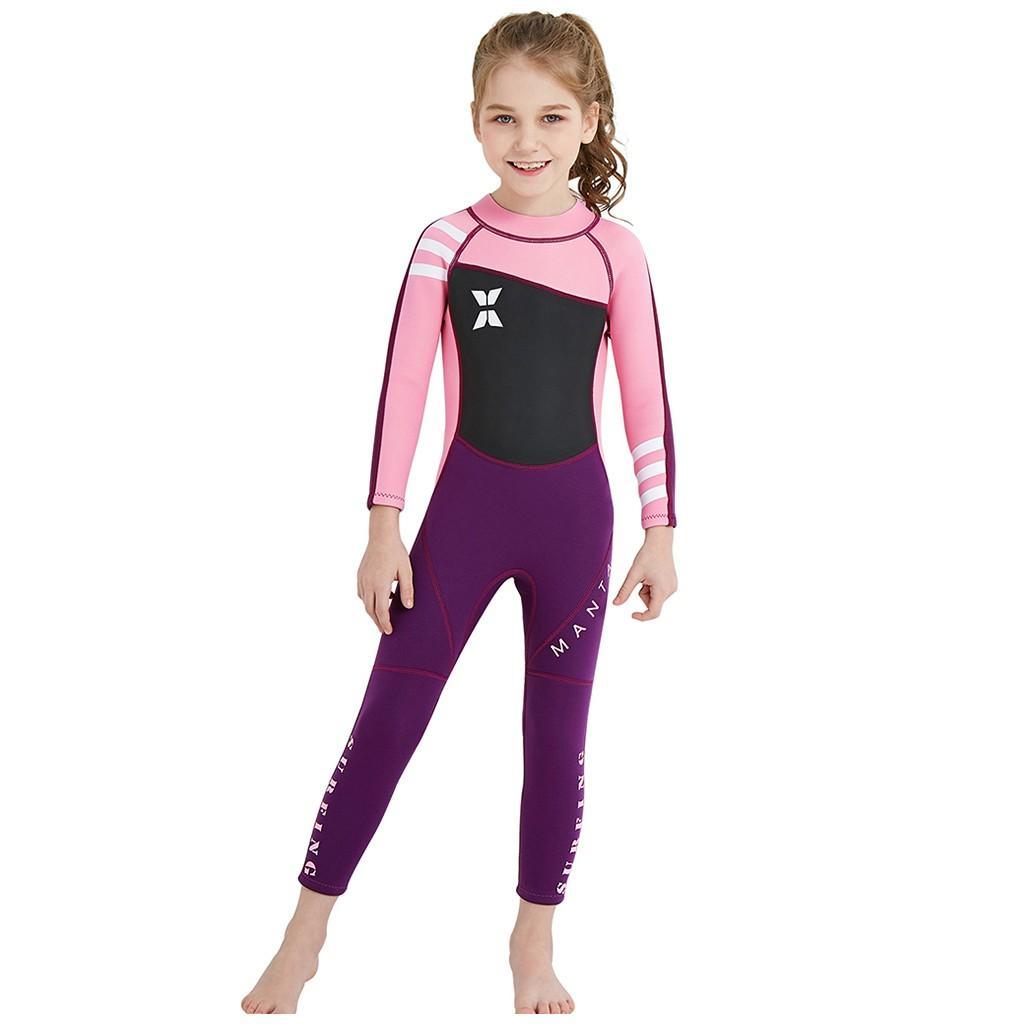 2020 Mode Kinder Mädchen wetsuit Kinder Sommer Langarm Warm Surf One-Piece Badeanzug-Schwimmen-Klagen Maio infantil