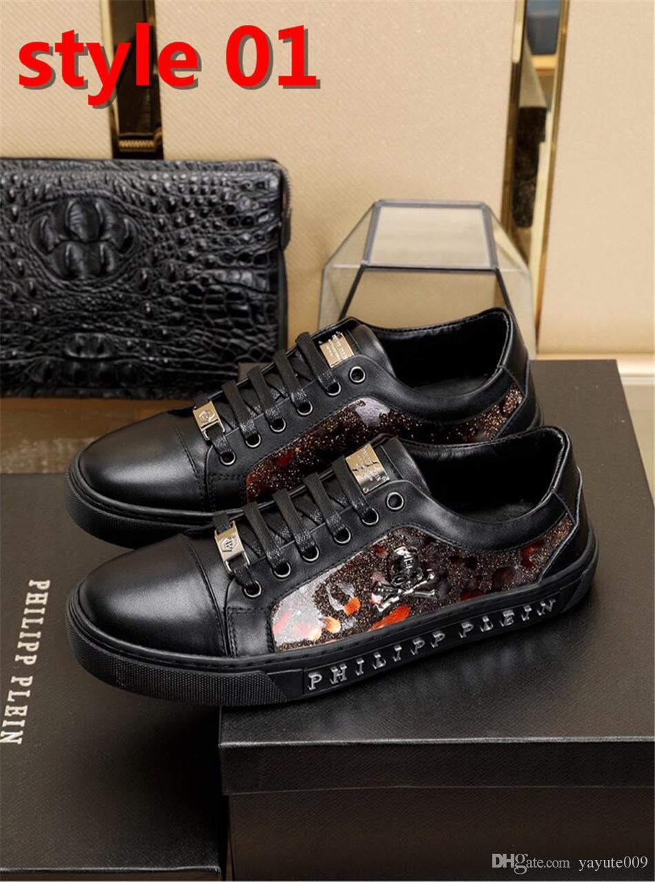 6037bd1681cd ... 19ss обувь для мужчин повседневная обувь горячая распродажа черные  белые кожаные ботинки мужские дизайнеры кроссовки для
