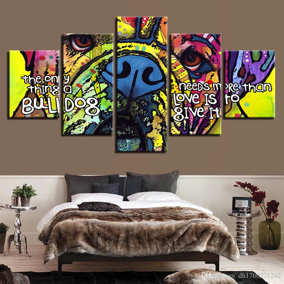 Özlü sprey boya koridor dekorasyon dekorasyon boyama, hayvan ev soyut yağlı boya sanat