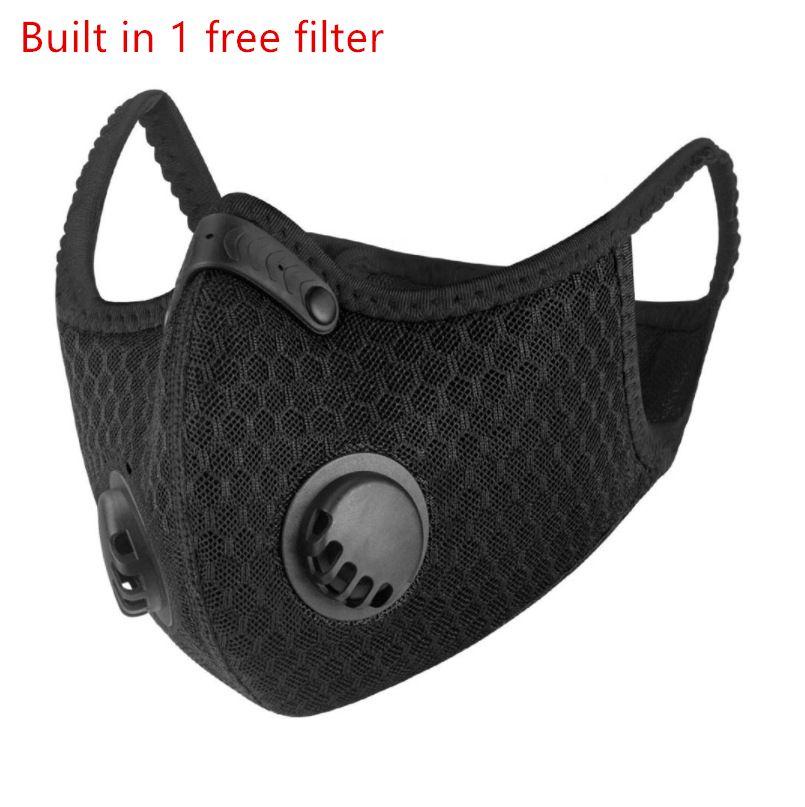 Formación contra polvo máscara máscaras con filtro de ciclismo Máscaras de la media cara de la montaña de carbón deporte de la bicicleta de ciclo del camino cubierta de la cara 10pcs